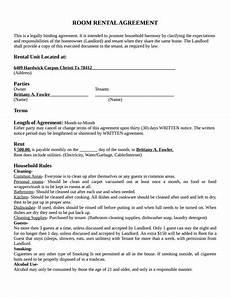 Free Download Rental Agreement Room Rental Agreement Template Free Download Create