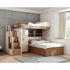 cbmmart space saving loft bunk bed with desk and