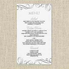 Menu Templates Downloads Wedding Menu Card Template Download Instantly By
