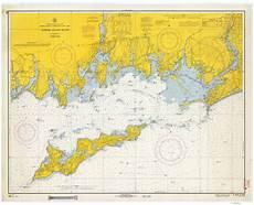 Fishers Island Sound Nautical Chart Fishers Island Sound 1966 Old Map Nautical Chart Ac