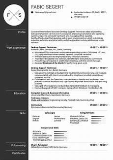 Resume Of Desktop Support Engineer Desktop Support Technician Resume Example Kickresume