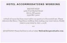 How To Word Hotel Accommodations For Wedding Invitations Sample Card For Hotel Room Block Invite Wedding