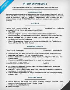 Sample Resume Format For Internship 17 Best Internship Resume Templates To Download For Free