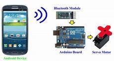 Arduino Servo Motor Control Android Arduino Control Arduino Bluetooth Servo Motor Control