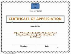 Service Certificate Model 30 Free Certificate Of Appreciation Templates And Letters