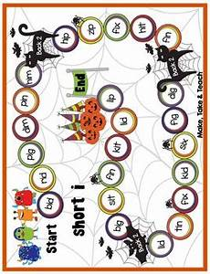 Halloween Themed Words Cvc Words Halloween Themed Game Boards By Make Take