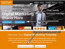 Exact Target Your Homepage Is The Landing Page