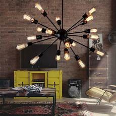 Commercial Lighting Fixtures For Restaurants 18 Heads Industrial Vintage Home Restaurant Ceiling