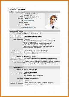Simple Cv Formats 9 Standard Cv Format Doc Cv For Teaching Latest Cv Format