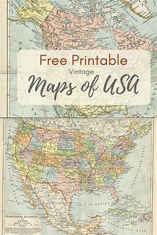 Printable Map With Pins Wonderful Free Printable Vintage Maps To Download Map