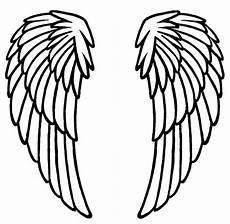 Angel Wings Template Angel Wing Templates Printable Clipart Best