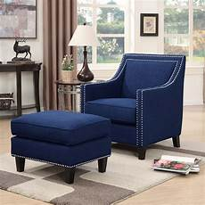 accent chair ottoman erica accent chair w ottoman blue by elements furniture