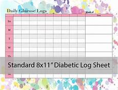 Daily Glucose Log Diabetic Glucose Log Sheet Printable Pdf