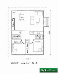 two bedroom 60m2 eco kithomes
