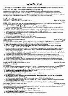 Sample Company Resume Business Development Executive Resume Sample Kickresume