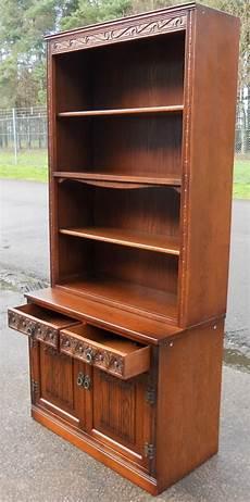 charm oak open bookcase cabinet