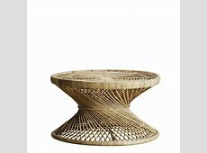 Round rattan coffee table for the botanical decor   Products   Tine K Home