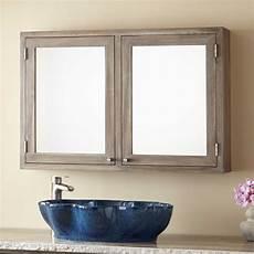36 quot doba teak medicine cabinet gray wash bathroom