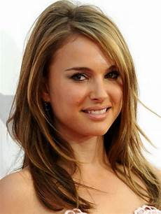 frisuren rundes gesicht mittellang layered medium length hairstyle for with