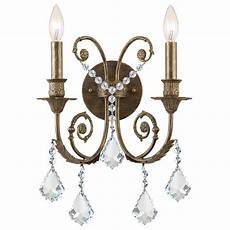 Crystal Sconce Lights Crystorama Traditional Classic 2 Light Crystal Candle Wall
