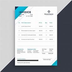 Elegant Invoice Template Elegant Blue Invoice Template Design Vector Free Download