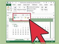 Calendar In Microsoft Excel How To Create A Calendar In Microsoft Excel With Pictures