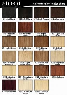 Smartstyle Hair Color Chart Colour Chart Mooi Hair Extensions