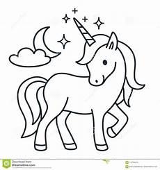 unicorn simple vector coloring book
