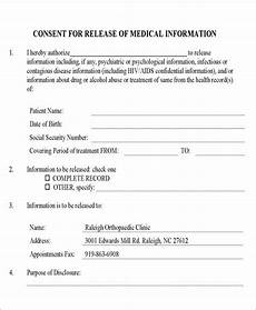 Generic Release Of Medical Information Form Free 9 Release Of Medical Information Form Samples In Ms