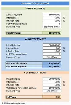 Excel Financial Calculator Annuity Calculator Excel Templates