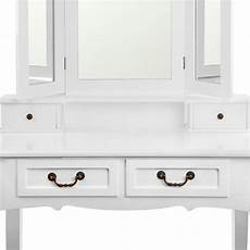 4 drawer dressing table w mirror stool in white buy