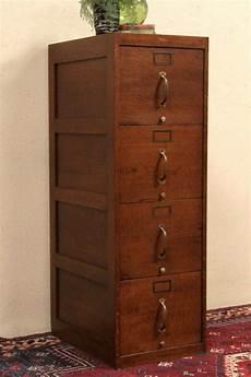 globe oak 1915 antique 4 drawer file cabinet or