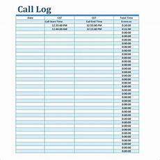 Call Log Template For Excel 16 Call Log Templates Free Word Excel Pdf Formats