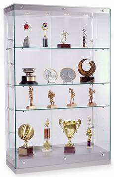 award display silver painted finished trophy cabinet