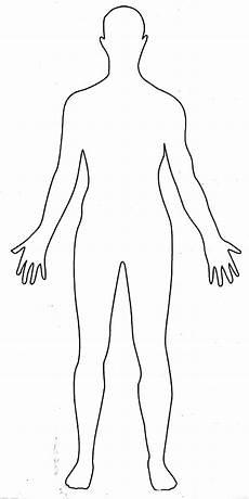 Human Outline Human Body Outline Drawing Medical Anatomy