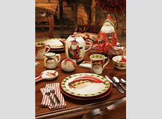 Vietri Christmas Dinnerware & Vietri Old St. Nick Assorted