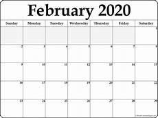 2020 17 Blank Calendar February 2020 Blank Calendar Templates