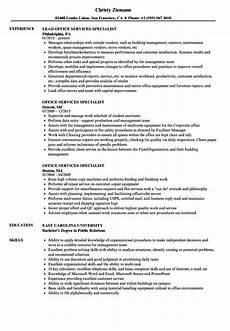 Office Duties Resume Office Services Specialist Resume Samples Velvet Jobs