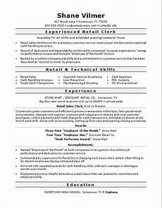Retail Clerk Resume Retail Sales Clerk Resume Sample Monster Com