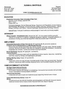 Sample Resume For Good Resume Examples For College Students Sample Resumes