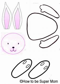 Printable Bunny Template Cook N Bake With Super Easter Bunny Crafts