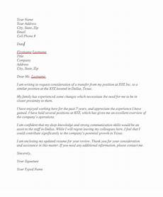 Transfer Letter Format From One Location To Another Sample Request Letter For Transfer To Another Location