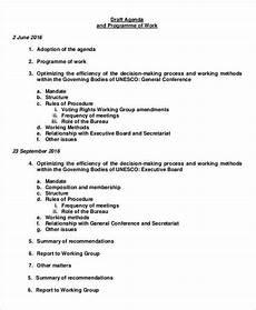 Work Agendas 8 Work Agenda Templates Free Sample Example Format