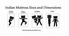 Bed Size Chart India Indian Mattress Sizes And Dimensions Best Mattress In India