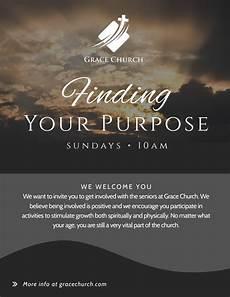 Church Invitations Finding Your Purpose Church Invitation Flyer Template