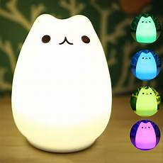 Cat Night Light Usb Cat Night Light Color Changing Silicone Lights Bedside