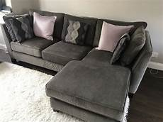 made wolseley large corner sofa mid grey corduroy in