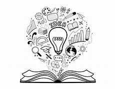 doodle education idea set vector premium