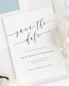 Wedding Save The Date And Invitations Romantic Calligraphy Save The Date Cards Save The Date