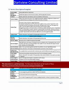 Service Catalogue Template Itil Service Catalogue Template Word Slideshow View